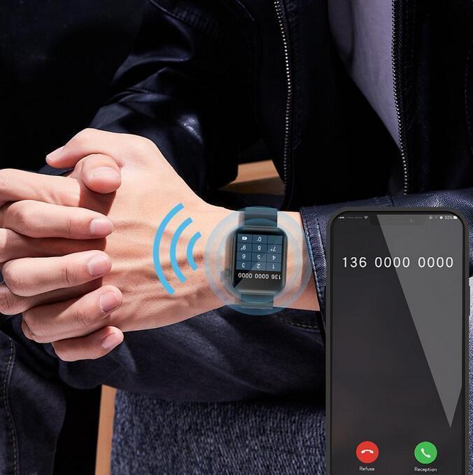 P40 1.65 inç Tam Dokunmatik Akıllı İzle Erkekler Kadınlar Spor Izci Bluetooth Çağrı Smartwatch Xiaomi Telefon VS W26 P8 Için
