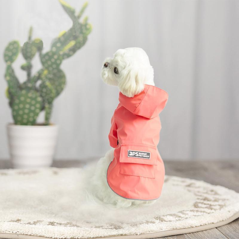 Dog Apparel Raincoat Clothes Outdoor Sweat-Absorbing Reflective Pet Clothing Coat For Small Mesh Breathable Waterproof Rain Jumpsuit