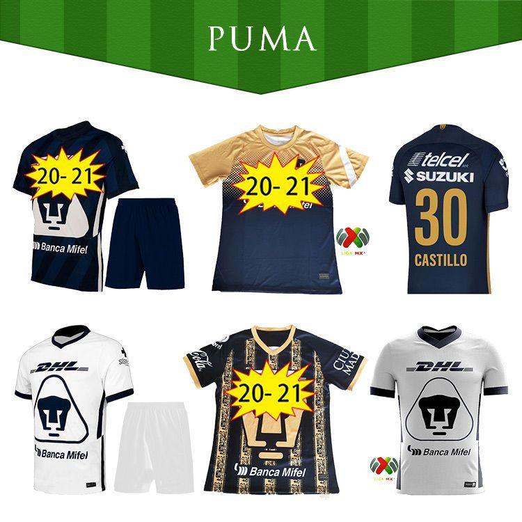 20 21 Liga MX FC Unam Soccer Jersey 2020 2021 Kit Iturbano Mora Camisas de futebol G.Gonzalez Malcorra Uniforme Adulto Homem Camisetas Unam FC