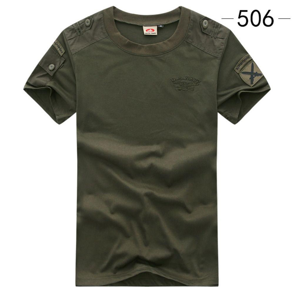 Военная футболка армии Военная футболка стиль тактической футболки городской мужской зеленый для мужчин грузовой униформа с короткими рукавами мужской тройник черный C0119