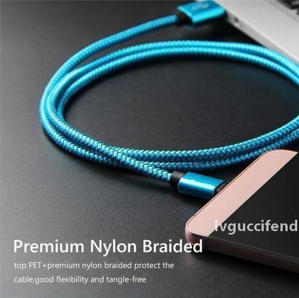 Micro USB-Kabel 2.4A Fast Lading USB-Typ C Kabel-Nylon USB-Sync-Daten Mobiltelefon Android Adapter Ladegerät Kabel für Samsung Sony Kabel