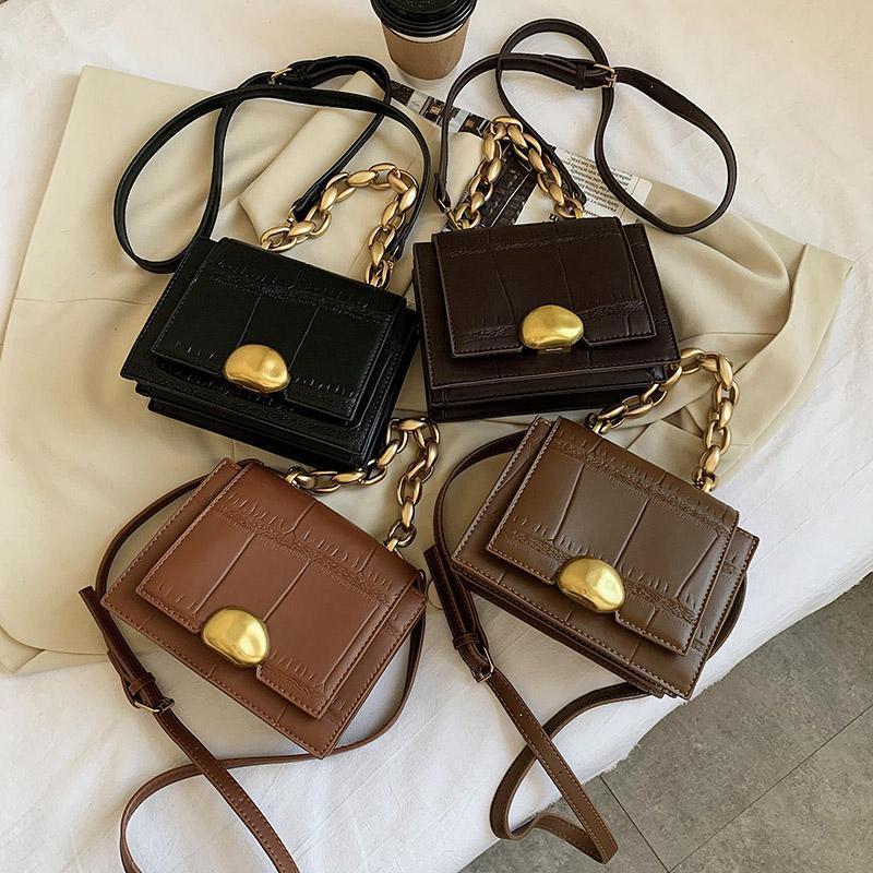 Qualitätsluxus Designer Sehrmine Leder PU Bags Handtasche Geldbörse Retro Kette Messenger Dicke 2021 und Crossbody Sac Femme Luxe Dvwui