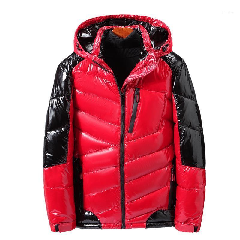Зимние мужчины толстые парки куртки с капюшоном плюс размер большой 9XL 6xL 7xL 8XL человек теплый вал Палат свободный Парку Парка Темно-синий 54 56 60 581