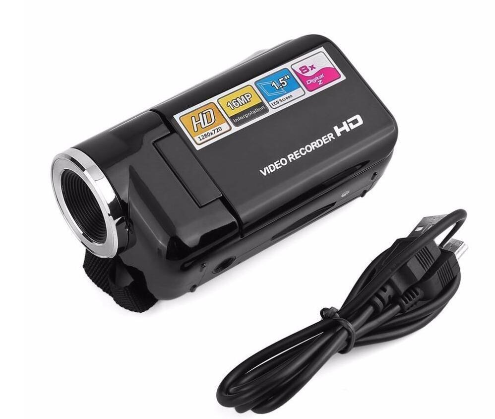 HD 720P Câmera Camcorder 1.5 polegada TFT 16MP 8X Digital Zoom Video Camcorder Câmera de alta velocidade USB2.0
