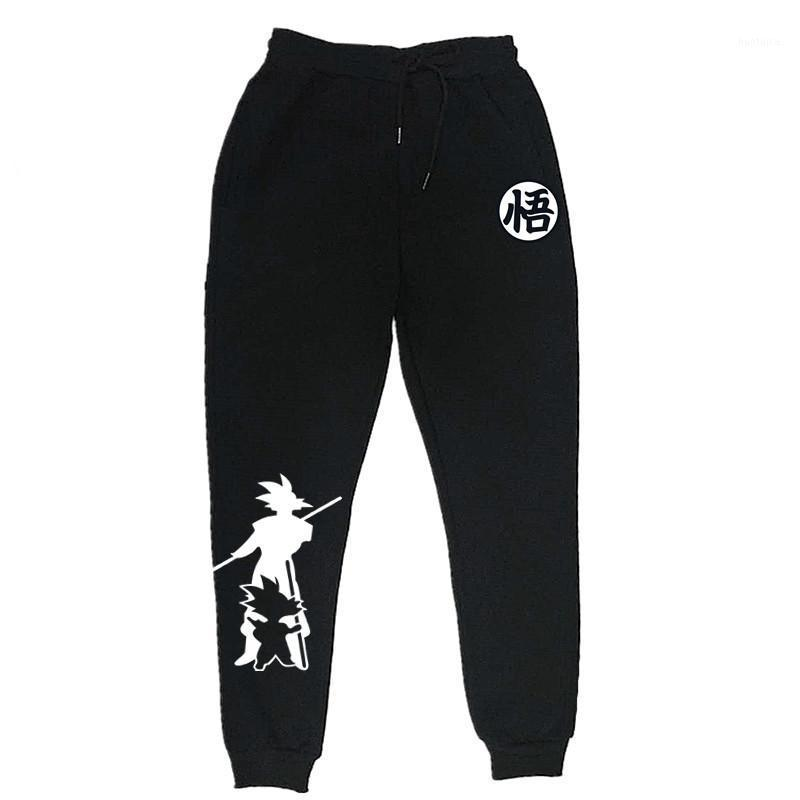 Мужские брюки 2021 Смешные печатные Гуку Мужская Повседневная Осень Зимние Серые Мужские Мужские Дрожные Спредиты Плюс Размер Черный Брюкер Pantalon1