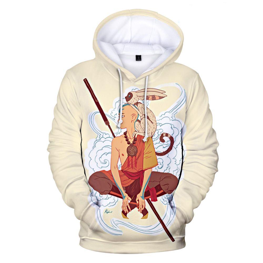 Avatar The Last Airbender 3D Print Hoodies Cartoon Anime Hooded Sweatshirt Men Women Fashion Hoodie Pullover Hip Hop Tops Unisex