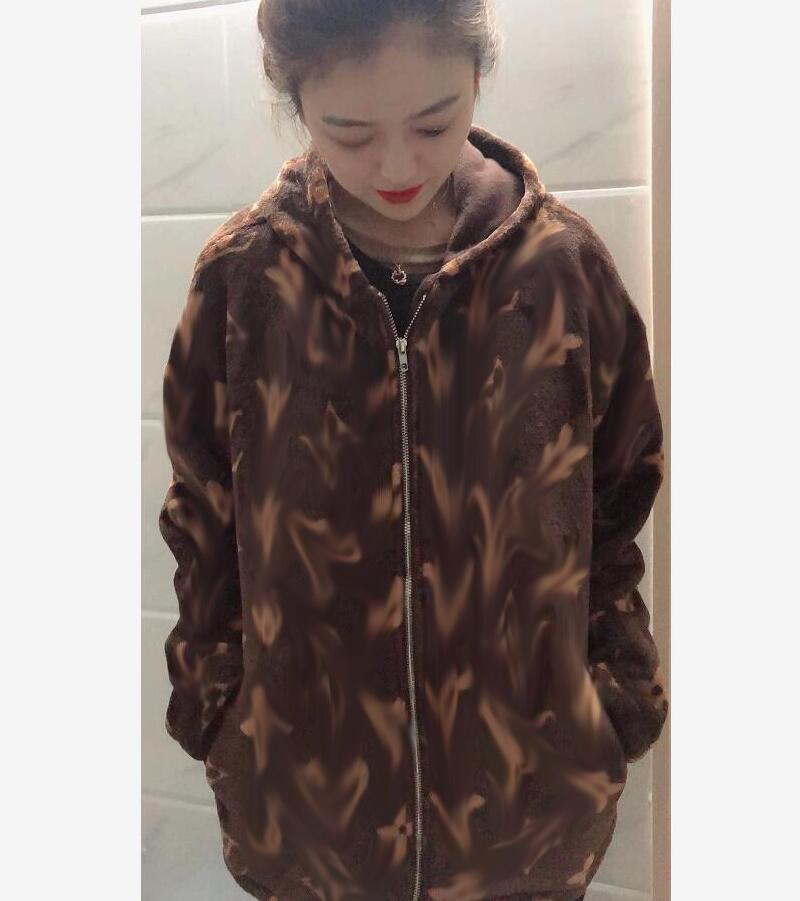 SS20 Outono / Inverno Nova Moda High-end Moda Quente Casal Com Capuz Jaqueta De Plush Jacket Jaqueta De Algodão De Algodão De Moda Lazer Ao Ar Livre