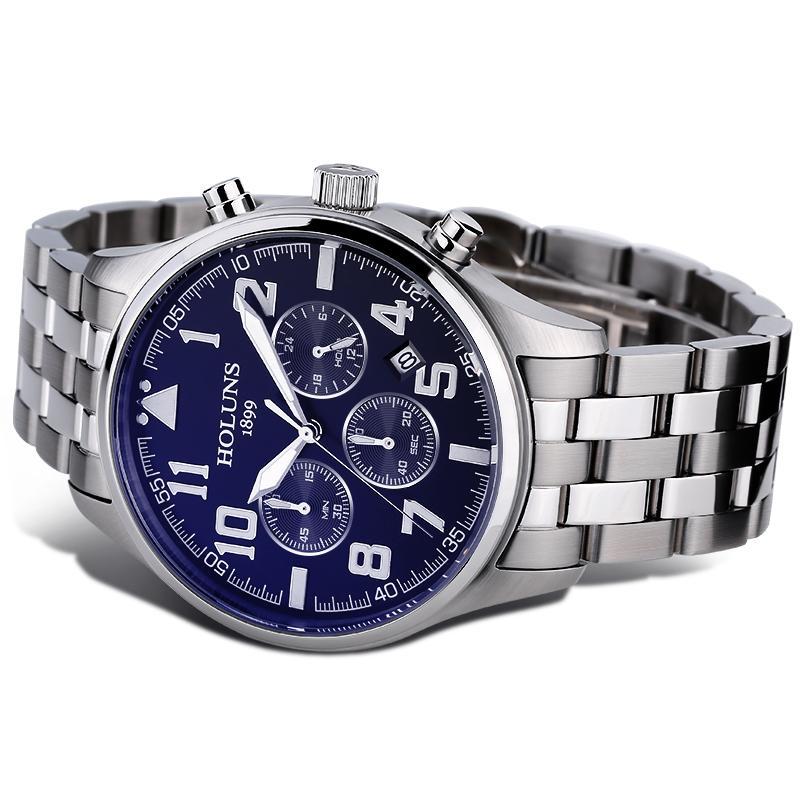 2021 Top Mens Watches 브랜드 럭셔리 남성 패션 쿼츠 시계 블루 다이얼 실버 스틸 시계 워치 메이커에 대한 릴로오오 Masculino / SS Brw