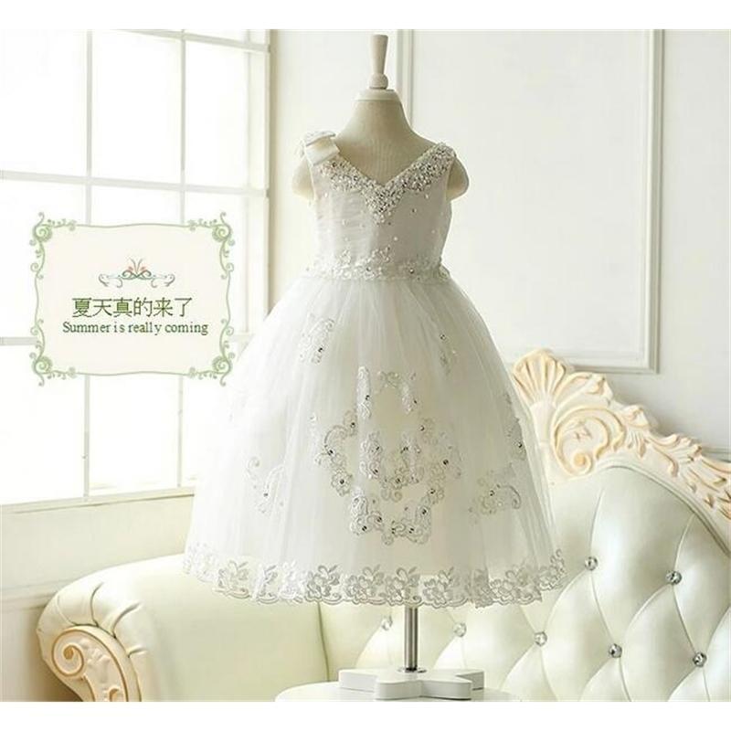 Девушки платье блесток тюль платья для девушки вечеринка детей обратно кружева V шеи вечерние платья принцесса вечеринка Brethday платье T200709