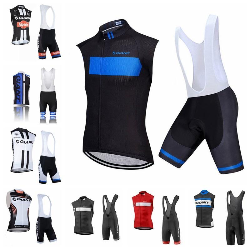 Neue 2019 Riesige Team Radfahren Sleeveless Jersey Weste Shorts Sets Sommer Schnelltisch MTB Bike Sportswear BIB Shorts Sets K061303