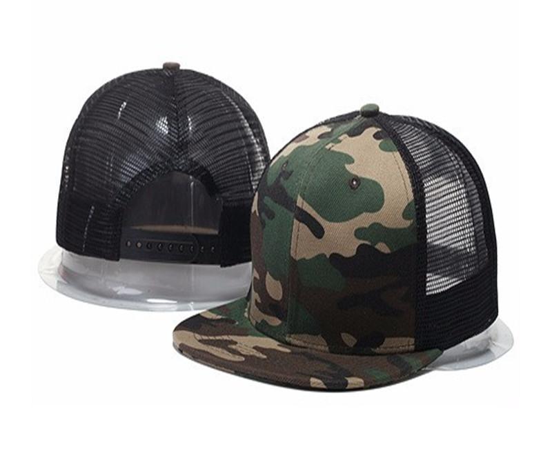 2020 Stil Erkekler Için Serin Hip Hop Boş Mesh Camo Beyzbol Kapaklar Snapback Şapkalar