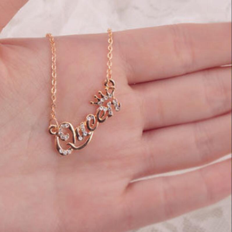 Tendencia caliente venta caliente collar collar cadena clavícula hembra al por mayor reina collar regalo amor joyería accesorios