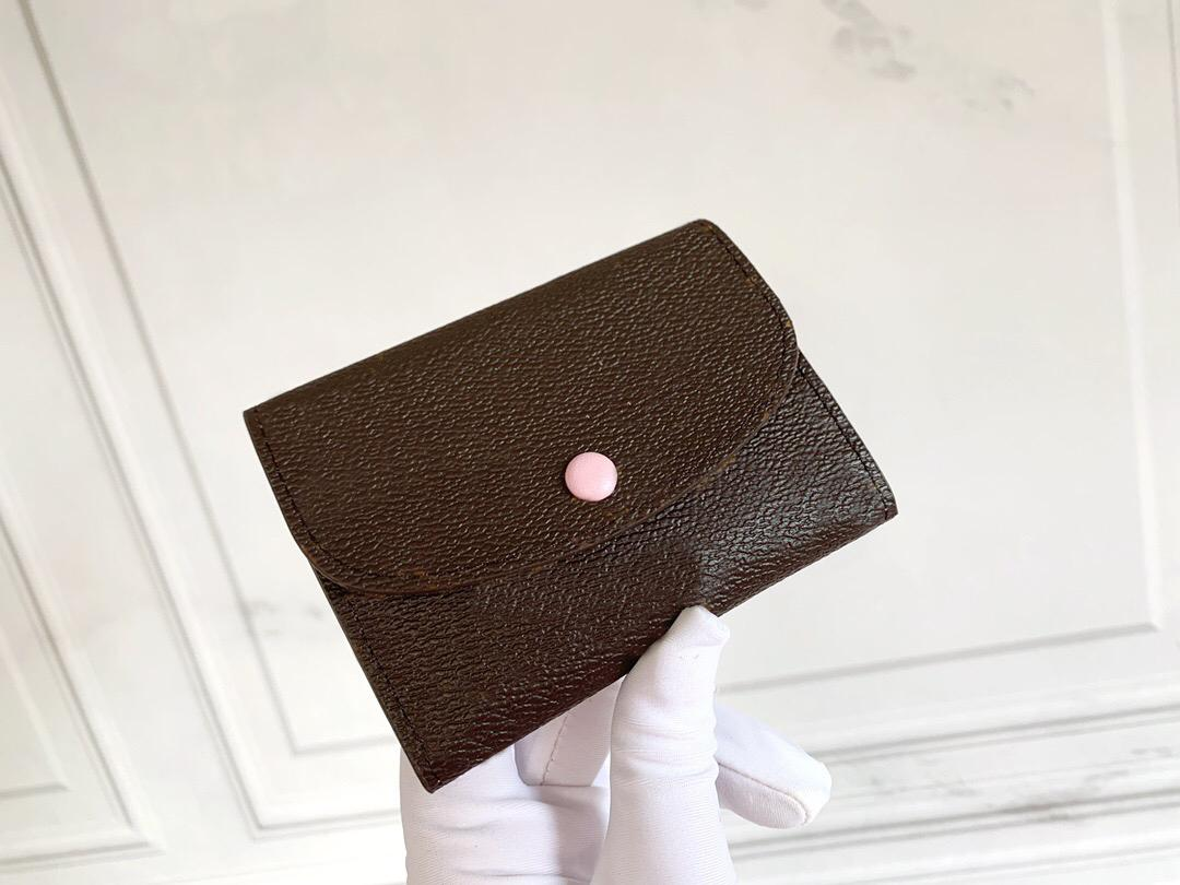 Designer 2021 Holder Female Folding Credit Coin Purse Ladies Card Cardholder Wallet Ladies Free New Bag Original Shipping With Box Hpere