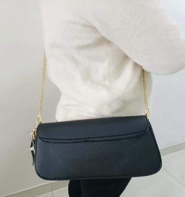 Frauen Umhängetaschen PU-Leder Mode Tasche Gold Kette Kreuz Körper Weibliche Handtasche Lady Top Qualität L7741 #