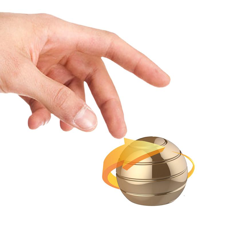 Table Top Ball transferir giroscópio metal aço inoxidável decompressão rotativa brinquedo infantil quebra-cabeça brinquedo descompressão giroscópio