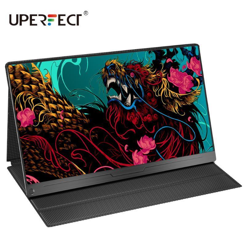 UPERFECT 15,6 pouces moniteur portable IPS HDR 1920X1080 FHD écran de soins oculaires USB C affichage du jeu double haut-parleur pour ordinateur ordinateur