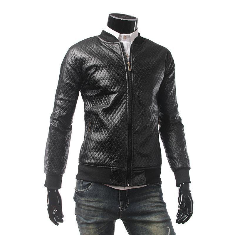 Nouveau Mode Black Faux Cuir Vestes Zipper Basic Moto Moto Top Manteau Turn-Down Collier Collier Veste à manches longues Dropshipping