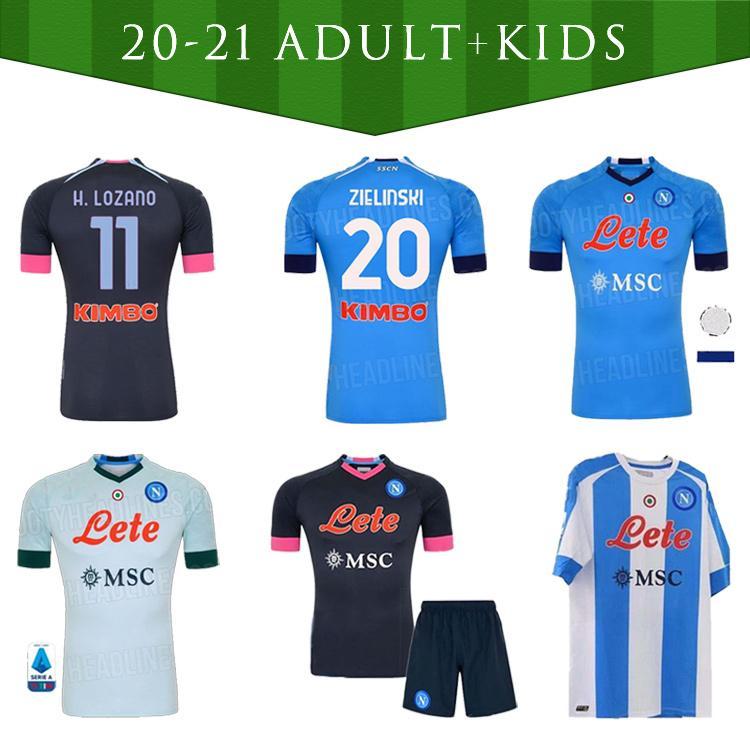 Kit 2020 2021 Kit de Nápoles Sets Socks 20 21 Napoli Jersey Jersey Kit Nápoles Hamsik Insigne Mertens Fabian Football Kits Camisas
