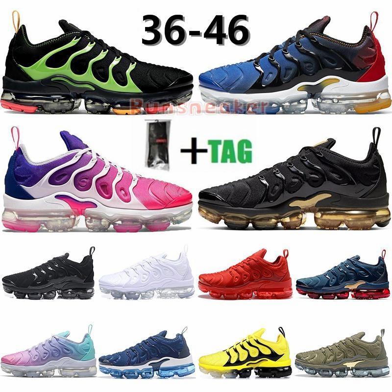 TN Inoltre scarpe da corsa per donne degli uomini Mauve String Colorways oliva sotto forma metallica Triple Bianco Nero Bred Trainer Sport Sneakers