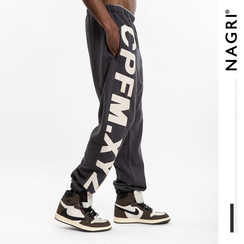 Kanye da uomo di marca di moda di Nagri con stampa 3D Pantaloni casual sportivi sciolti