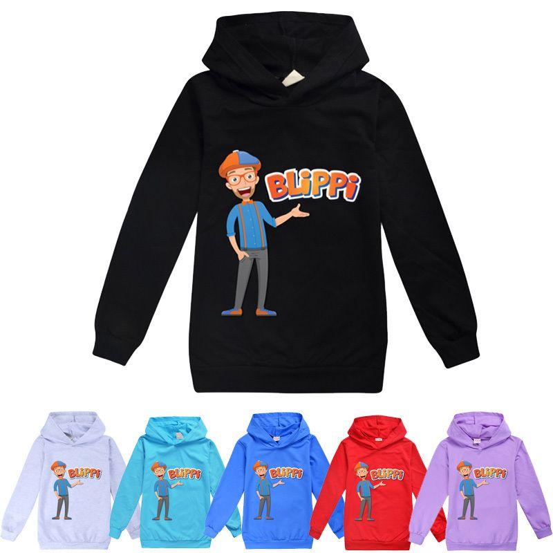 Blippi Kinder Cartoo Hoodies Kinder Frühling Herbst Mit Kapuze Sweatshirt Baby Jungen Mädchen Mode Outwear Pullover T-Shirt 201125