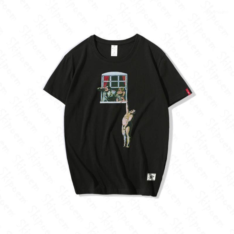 Camisetas para hombre Banksy Humory Art Camiseta Hombres Vendimia Moda Hip Hop Casual Funny Harajuku 100% algodón Manga corta Tops de verano Tops1