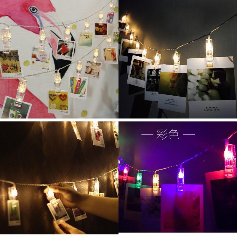 Fotoğraf Klasörü Dekoratif Lambalar Gece Pazarı Lamba Dize LED Pil Işık Noel Özgünlüğü ile Klip 8 3YL N2