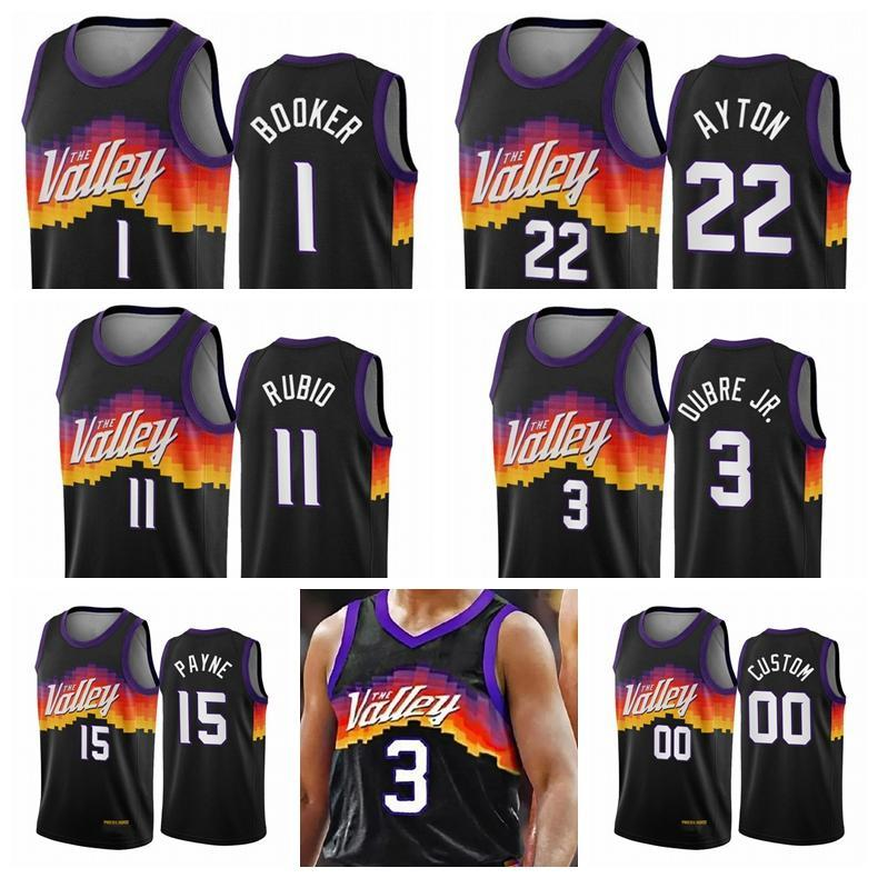 NCAA Phoenix.СолнцеМужчины девинБукер ДэндрдAyton 3 Chris Paul 2020/21 Swingman City Basketball Jersey Black Icon Edition