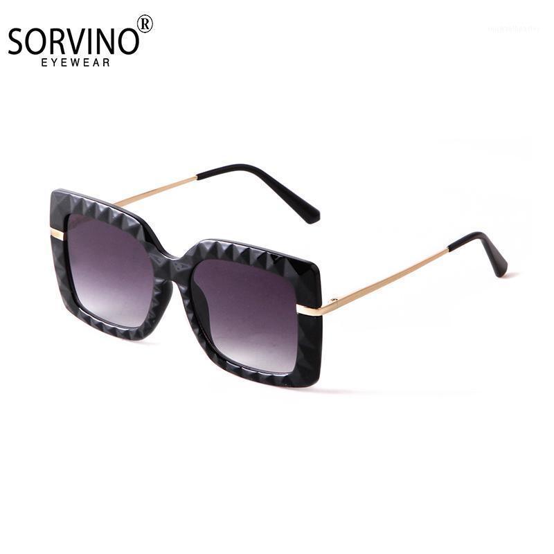 Sorvino Retro Sunglasses Sunglasses 2021 Mulheres Diamante Marca Design Vintage Quadrado Quadrado Moda Óculos de Sol Feminino A00311