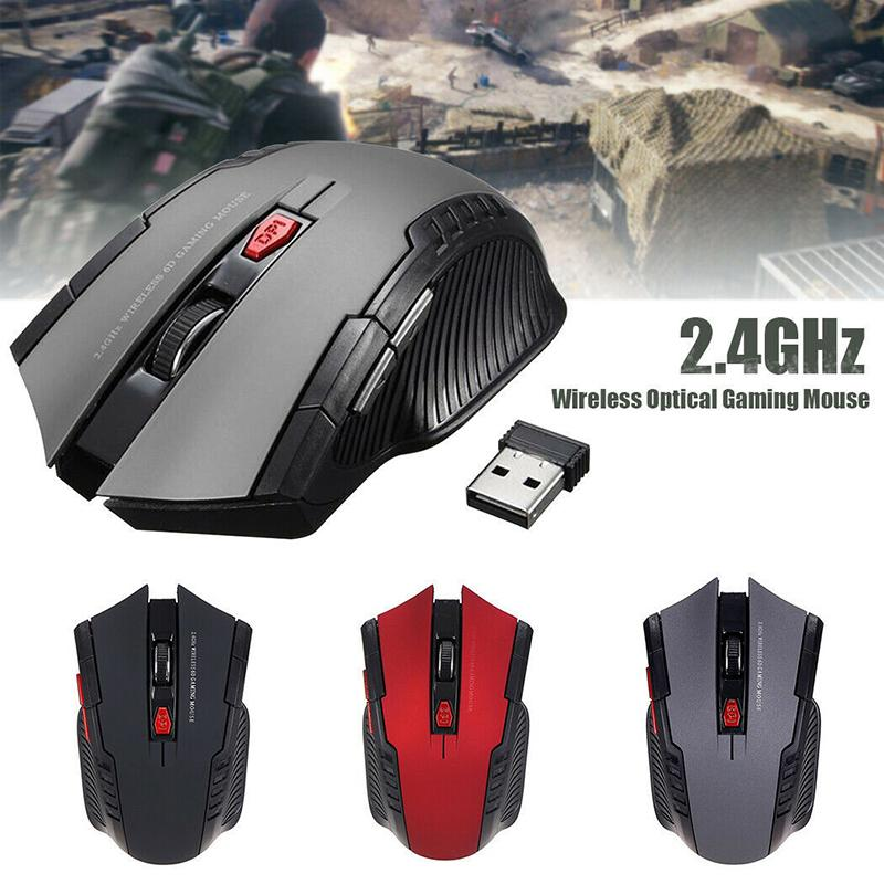 Gaming 1600DPI Wireless Mouse Ergonomic Optical Mice for Dell/Huawei/Lenovo PC Computer Mouse Office