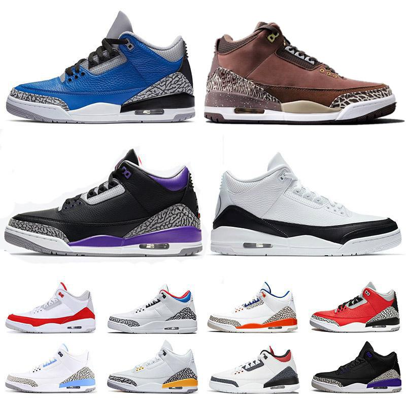 Travis Scott Chaussures de basket-ball  III Tinker Black Sneakers en ciment Homme Cement Gris Blanc Université rouge Chaussures UNC Blue III katrina Sneaker