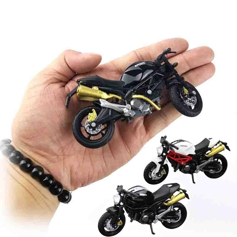 1:18 Accueil Enfants Plats en plastique Décor de voiture Collection de véhicules hors route Modèle de bureau Modèle Moto Diecast Simulation de moto portable