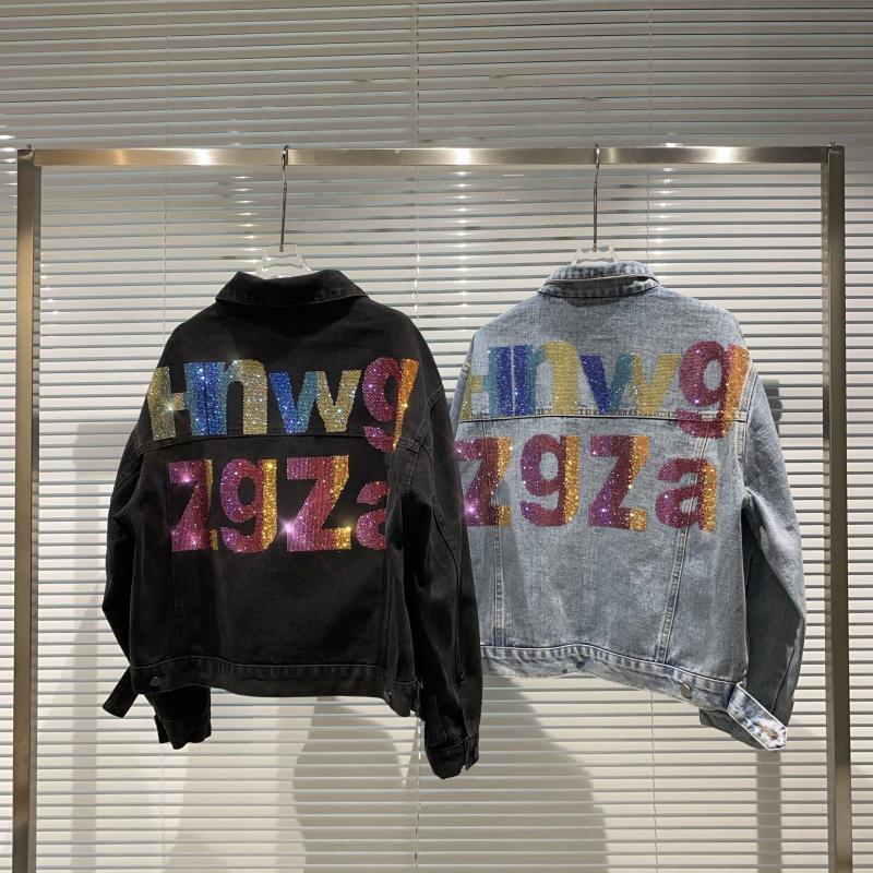 2020 rengi yeni alt alfabe matkaplar çok fazla yıkanmış su kot kısa kadın ceket 0uim