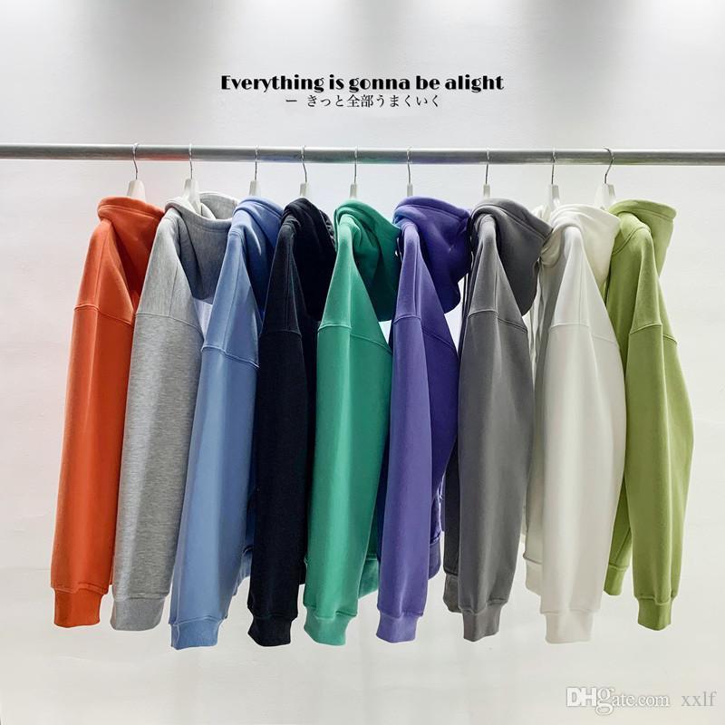 Mode Marke Herren Hoodies 2020 Frühling Herbst männlich Casual Hoodies Sweatshirts Herren Solid Color Sweatshirt Tops