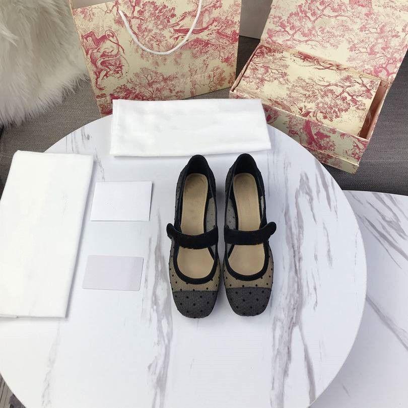 Dior Sapatos femininos casuais elegantes que são versáteis em 2020 saltos altos de designers de luxo DS5X