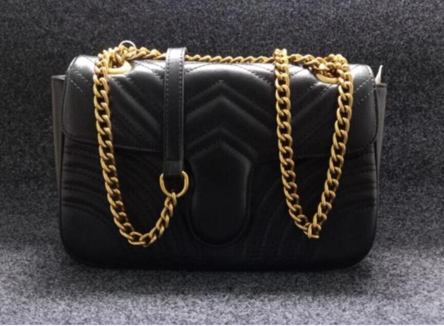 Moda Mulheres Marmont Sacos de Ombro Mulheres Cadeia Crossbody Bag Bolsas Bolsa de Alta Qualidade Saco de Mensagem Feminina Cadeia de Ouro GTY20-P