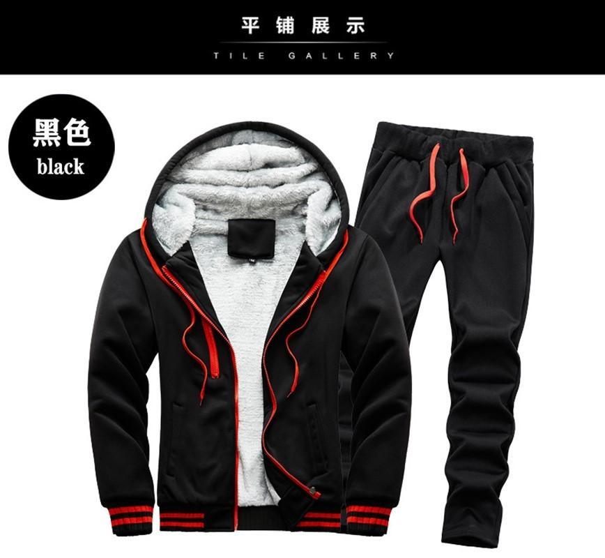 2020 Fornitura diretta transfrontaliera Inverno uomo Inspolverato velluto caldo maglione caldo tuta casual sportswear Plus Size all'ingrosso
