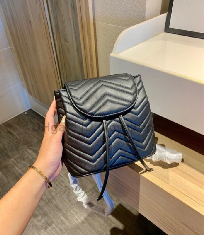 G 2021 Nouvelle lettre de luxe lettre de luxe Lettre de diamant Lettre de la mode Femmes Mode Sac à dos Sacs à main Sacs de godets à cordes géométriques métalliques simples