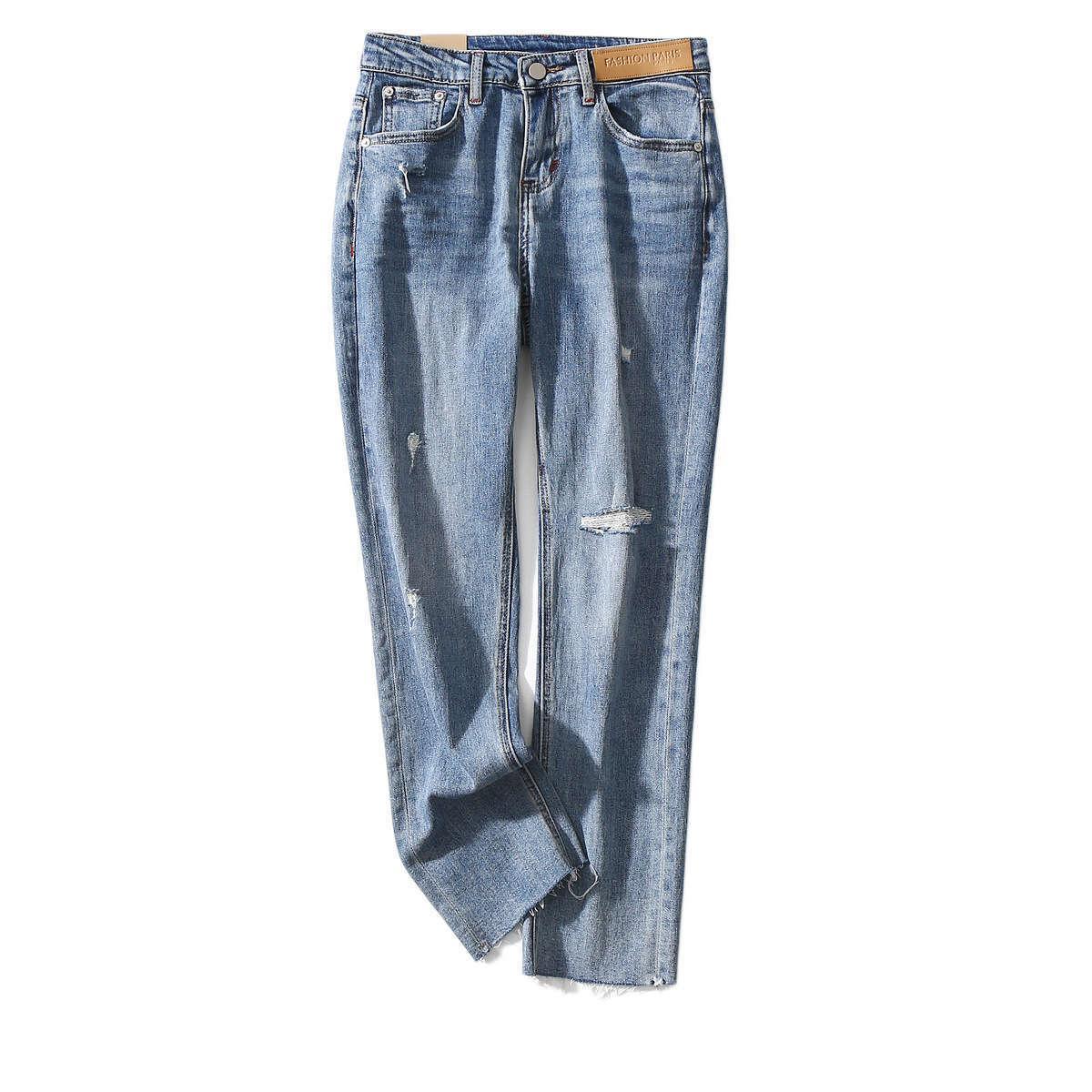 H30 Новый стиль дышащий влагопоглощение влаги для кожи показывают тонкую эластичную связующую женскую тонкую фитинг девять точек джинсы для женщин
