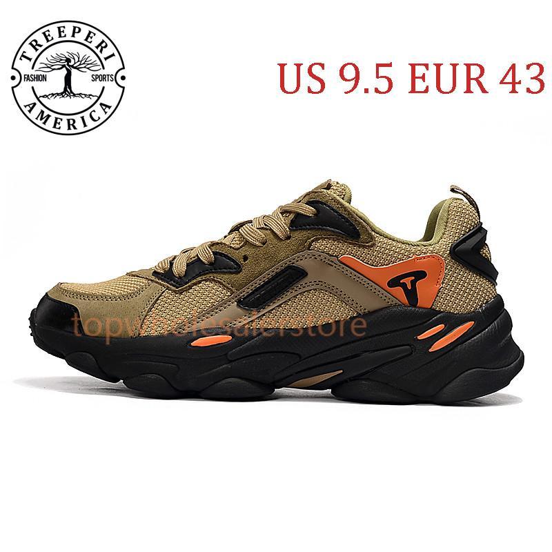 أفضل Tarperi الأزياء مكتنزة 700 أحذية الركض الوحيد الناعمة الأسود الزيتون إجمالي البرتقال الولايات المتحدة 9.5 يورو 43 للرجال المدربين