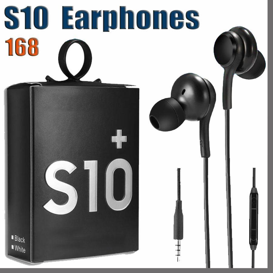 168D 고품질 OEM 이어 버드 S10 이어폰베이스 헤드셋 S8 S9 PK S6 S8 이어폰 용 볼륨 컨트롤이있는 스테레오 사운드 헤드폰