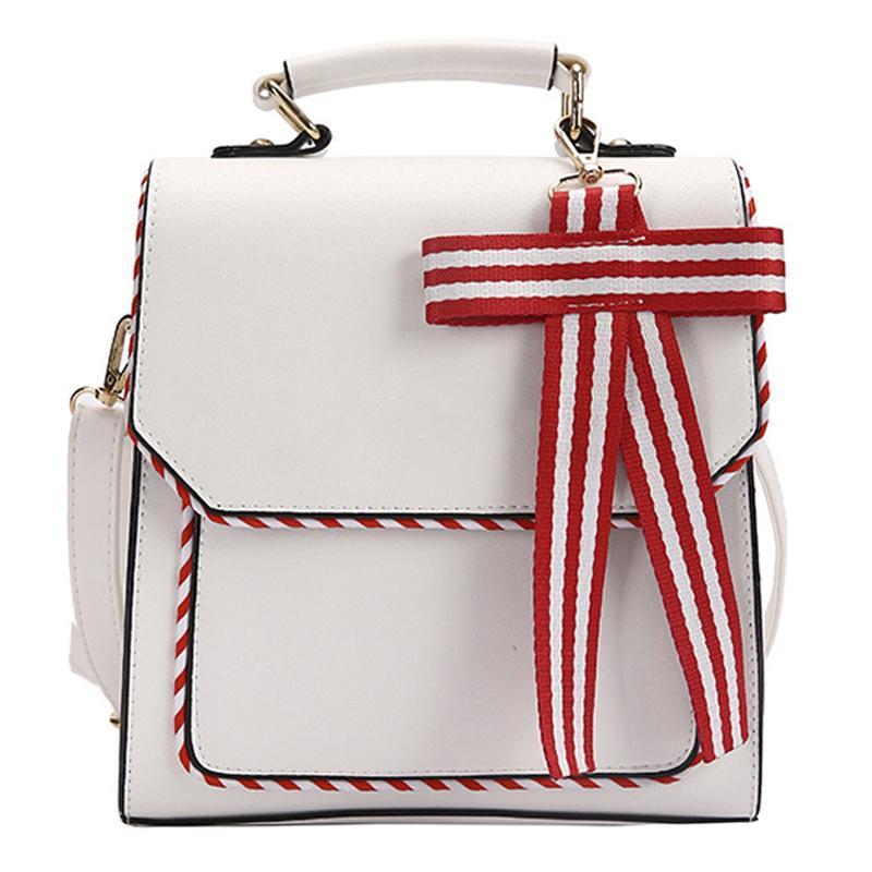 Fashion Women Backpacks Bowknot Casual Anti Theft Street Patchwork Packback Woman Cute Lady Travel Back Bags School Girls Bag Q1129