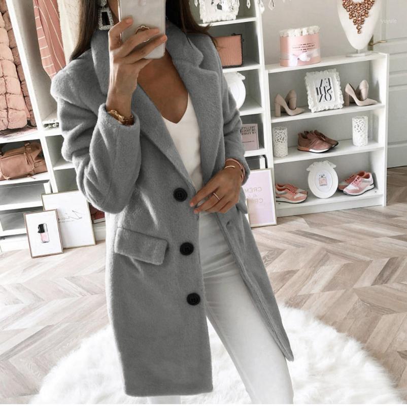 Женщины Weath Wearwear зимнее шерсть пальто с длинным рукавом.