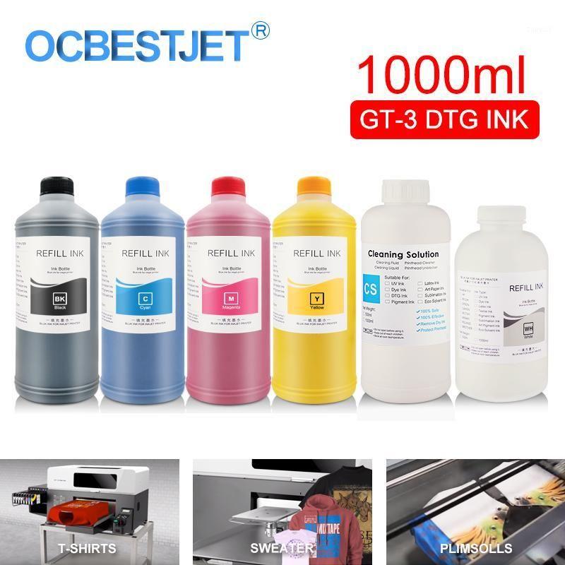 GT-3 DTG حبر حبر حبر زجاجة لحبر Brother GT-341 GT-361 GT-381 GT3 GT3 مباشرة إلى طابعة الملابس (6 ألوان اختياري) 1