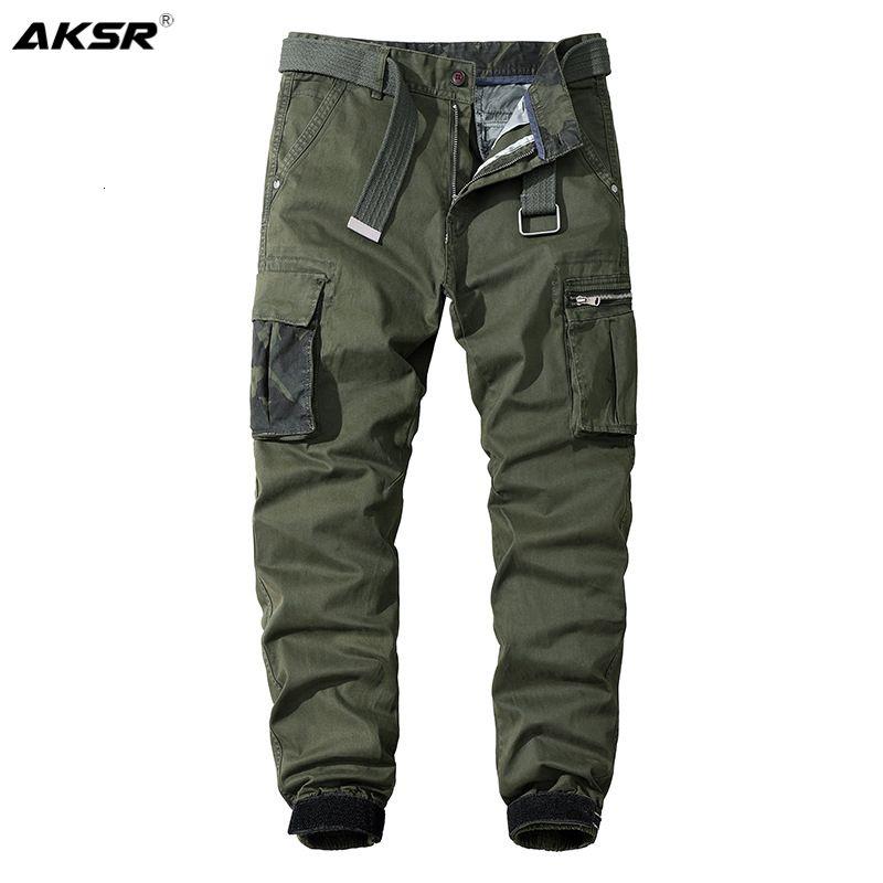 Recuperati gatti invernali Cargo casuale Joggers militari per uomo Camouflage Streetwear Tactical Broek