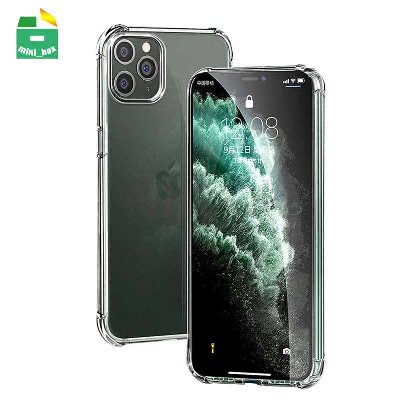 Caso de Capas de TPU à prova de choque transparente cobre capa para iphone 11 12 pro max xr xs 7 8 plus