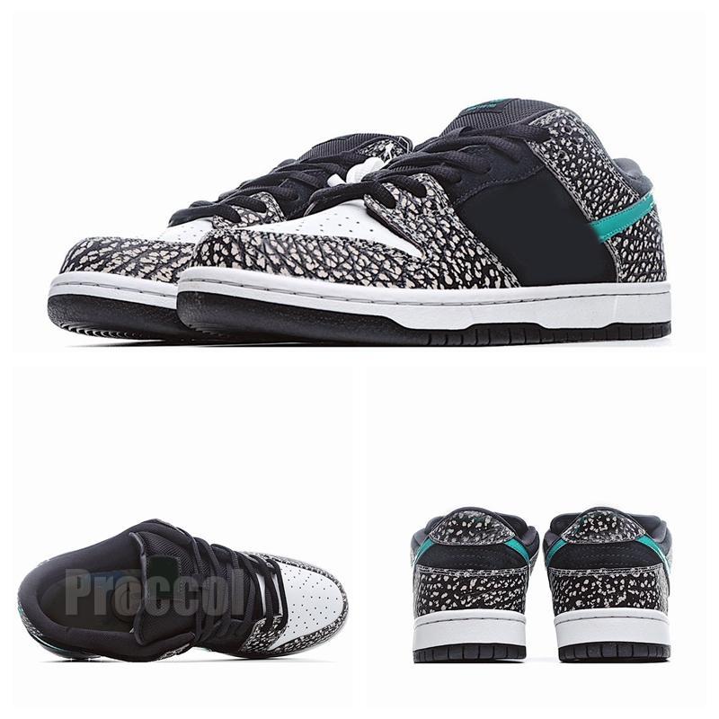 2020 Nuovo arrivo Top Quality Dunks Low Mens Donne da donna Scarpe da corsa a basso elefante Tiffany Grigio Burst Crack Brand Fashiontrainer Scarpe Sneaker