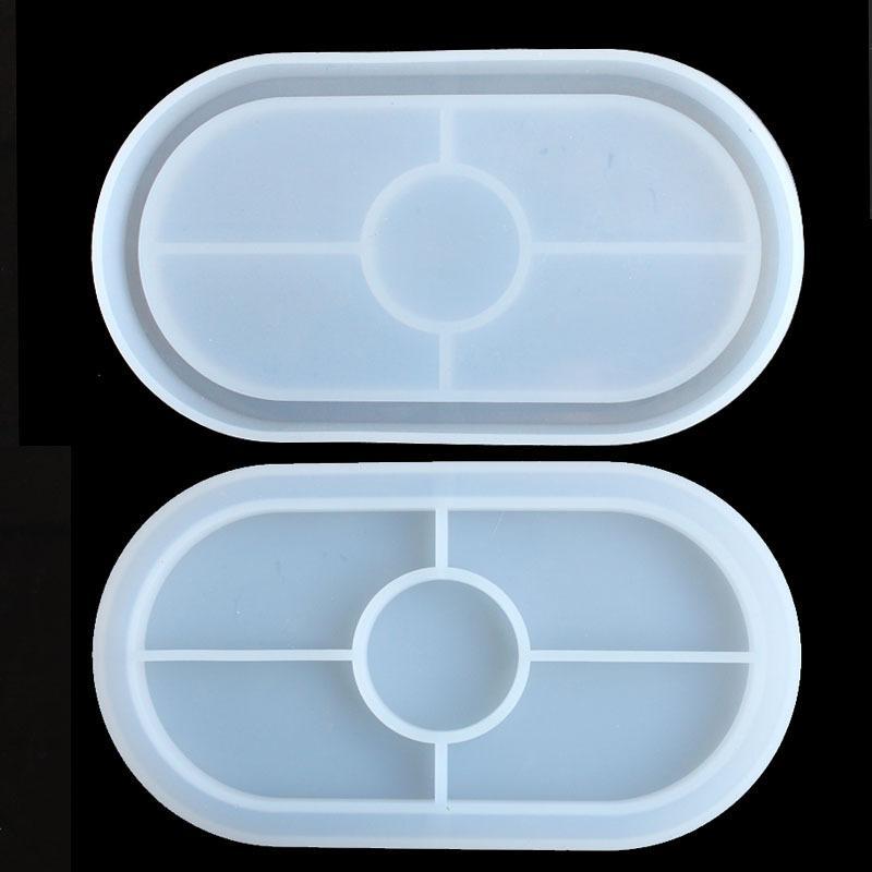 Stampi in silicone Ellipse Stampi manuali per resina epossidica Muffa specchio trasparente tazza tappetino morbido 3D Room 6 8Dy O2