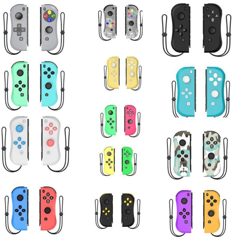 14 Color Bluetooth Controlador de Jogo sem Fio Gamepad Joystick Esquerda à direita para Switch NS Jogar Console com cabo Tipo C
