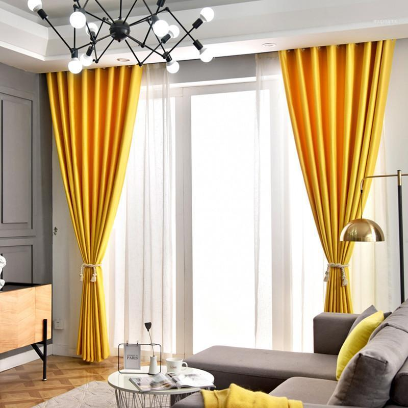 Занавес Drapes Linen Blackout Шторы для спальни Гостиная Высокое Затенение Современные Окна Жалюзи Сплошной Цвет Curnain1